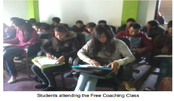 Student attending free Coaching Class for minorities communities for SSC Exam.